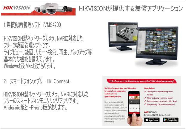 HIKVISIONのアプリケーション